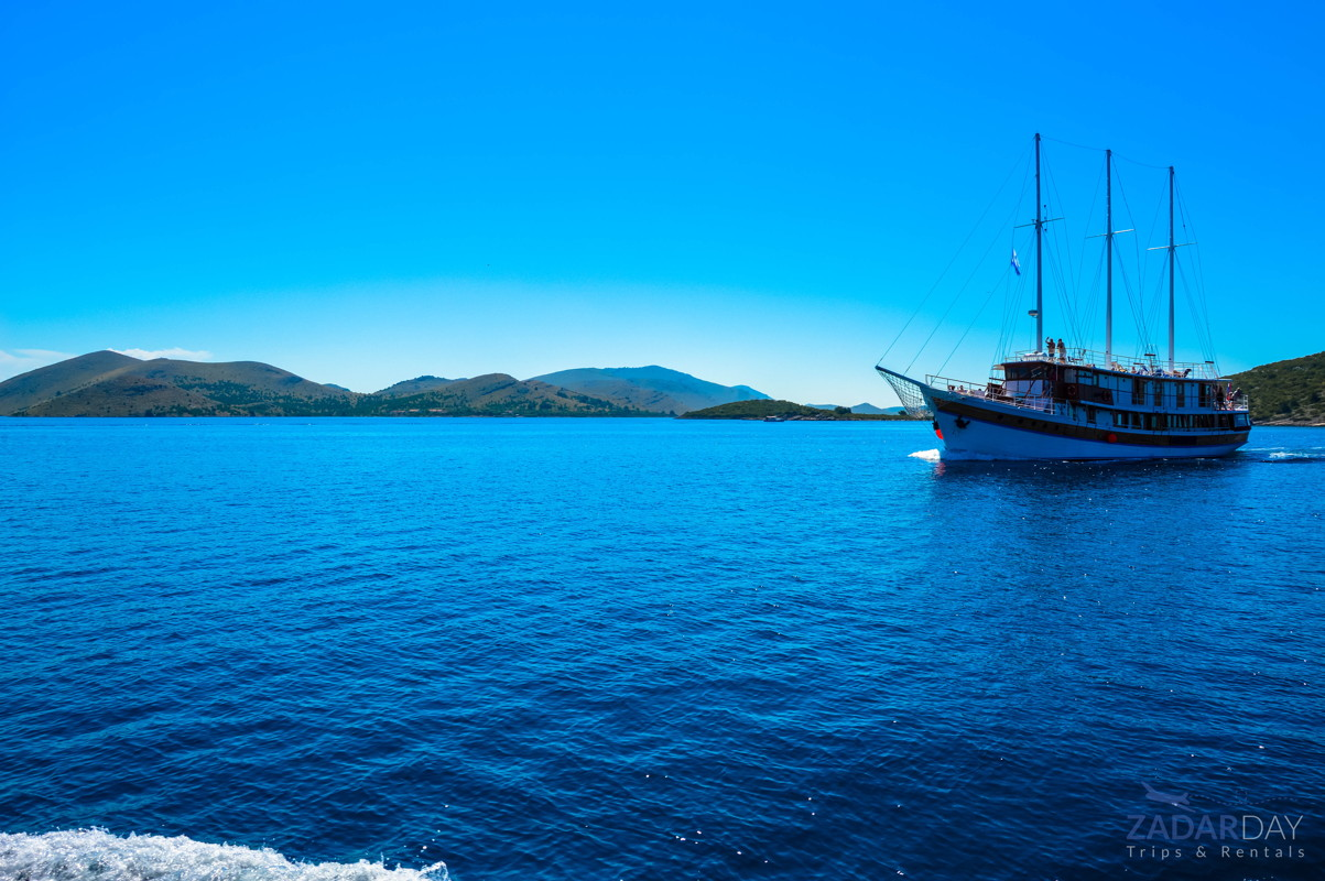 View to Kornati from the boat