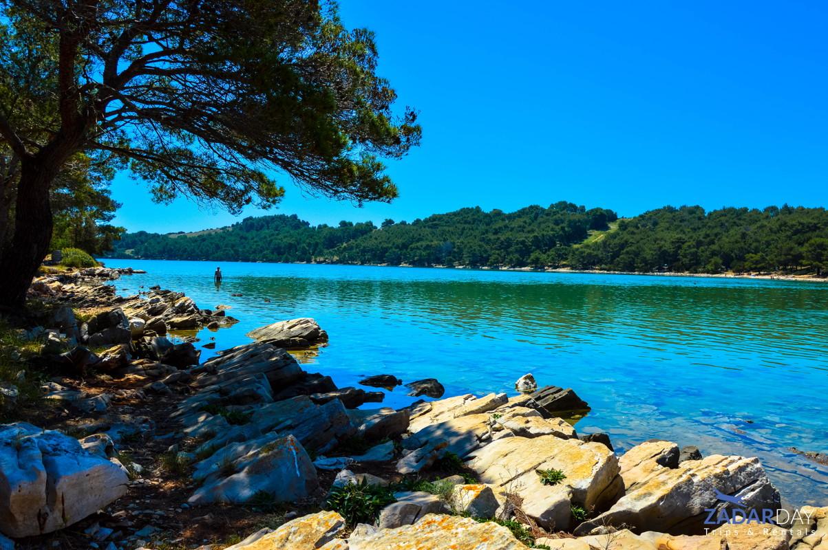 Salt lake Mir on Telašćica Nature Park
