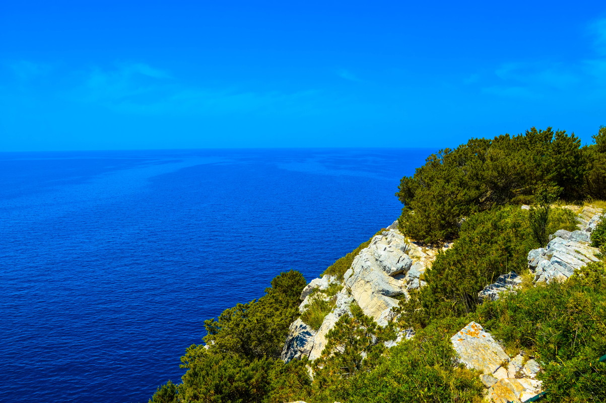 View from salt lake Mir seaside