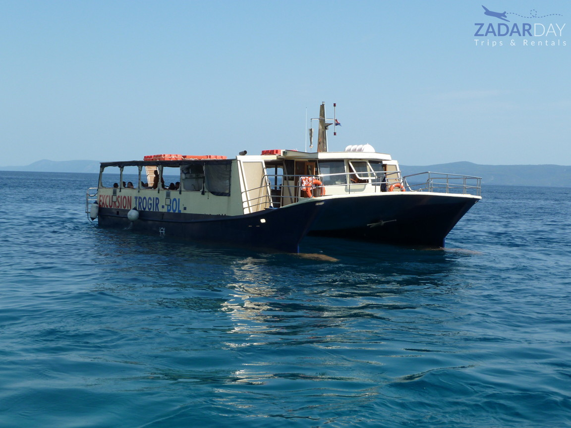 Boat Dobri Dupin on tour from Vir island to Sakarun beach