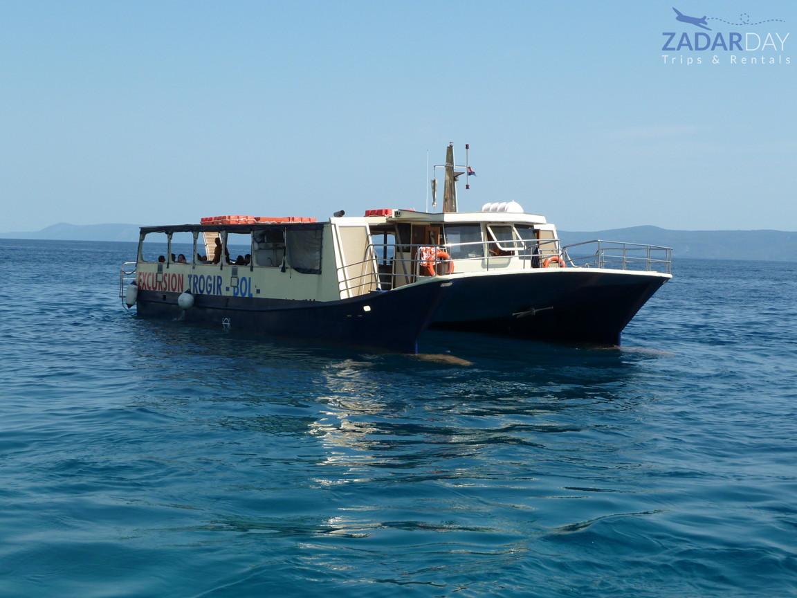 Boat Dobri Dupin on tour from Vir island to Sakarun beach
