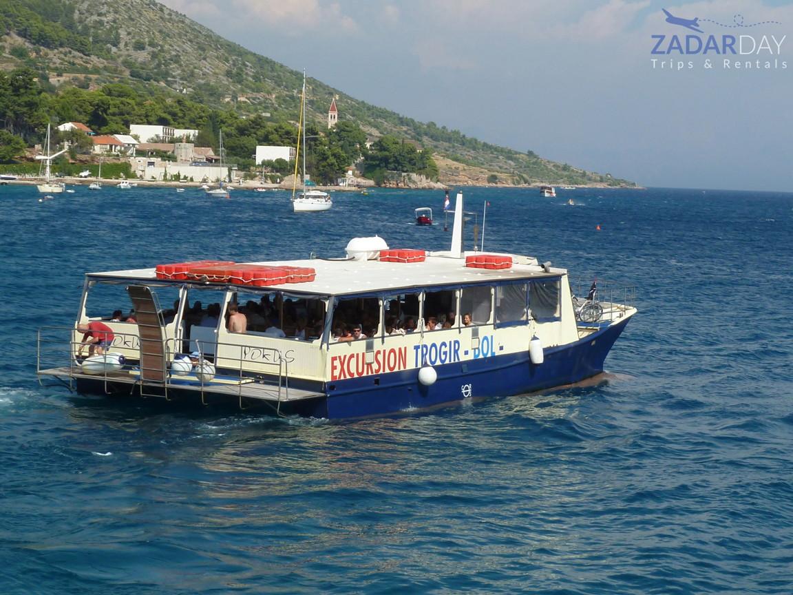 Boat Good Dolphin on a tour from Vir island to Sakarun beach