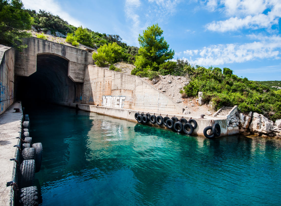Tito's tunnel - ex. military war zone for submarines